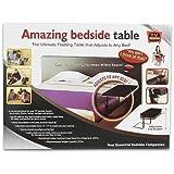 Bedside Adjustable bed side Table Black Tray