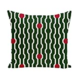 E By Design PHGN277GR8R1-26 Nuts & Bolts Decorative Holiday Geometric Print Pillow, 26