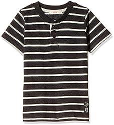 Fox Baby Boys' T-Shirt  (Black Melange_12-18 months_327588)