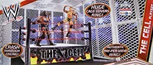 HELL IN A CELL MATTEL WRESTLING RING AND CAGE FOR FIGURES