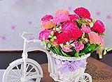 かわいい 造花 お部屋の インテリア 自転車 回転する車輪 リアル設計 てんとう虫飾り付き 猿express(カーネーションピンク)