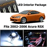 Classy Autos Acura RSX White Interior LED Package (6 Pieces)