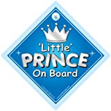 Little Prince On Board Car Sign, Prince on Board Sign, Silver Text, Car Sign, Baby on Board Sign, Baby on Board, Novelty Car Sign, Bumper Sticker, Decalby iwantthatsign.com