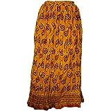 100% Cotton Ethnic Indian Designer Long Skirt Stretchable West 23-36 Inch Beautiful Skirt ... (Multi) - B01IHWBCD6