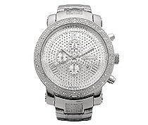 New Mens Jojo/Jojino/Joe Rodeo Silver Metal Genuine Real Diamond Watch MJ1099