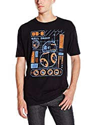 Funko Men's Pop! T-Shirts: Ep 7 - BB-8 Blueprint, Black, 2X