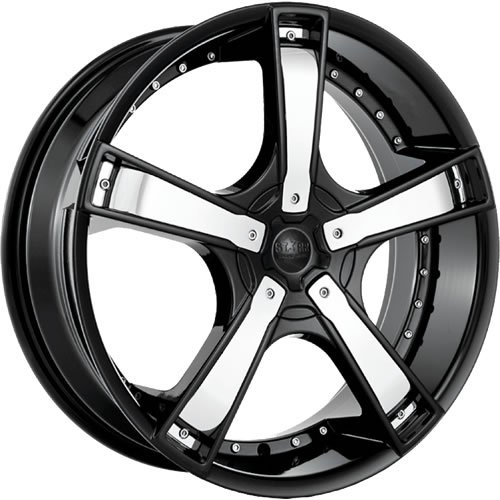 Starr Bones 17 Black Wheel / Rim 4x100 & 4x4.5 with a 35mm Offset and a 73.1 Hub Bore. Partnumber SWG6637740+35BLK-73.1