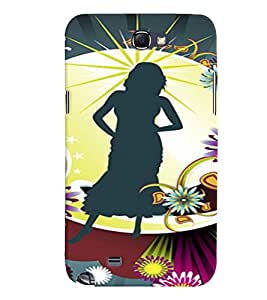 PRINTVISA Abstract Girl Case Cover for Samsung Galaxy Note N7000