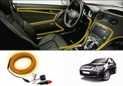 Speedwav Car Interior Ambient Wire Decorative LED Light Yellow-Ford Fiesta Old