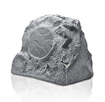 OSD Audio RS850 8-inch High Power Single Outdoor 200-Watt Rock Speaker, Granite Grey