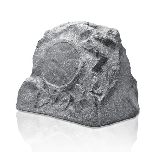 Osd Audio Rs850 8-Inch High Power Single Outdoor 200-Watt Rock Speaker, Granite Grey