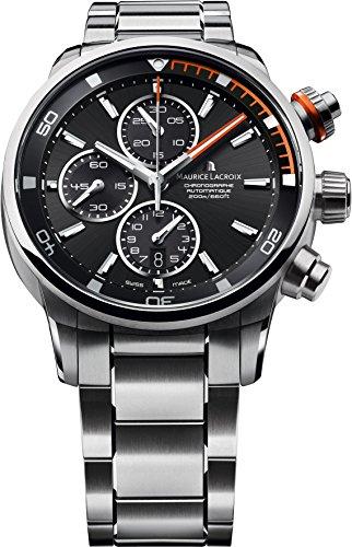 Maurice Lacroix 13055 - Reloj para hombres, correa de acero inoxidable color plateado