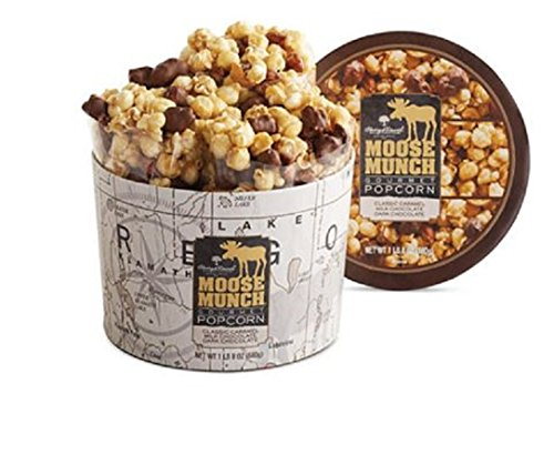 Harry & David Moose Munch Gourmet Popcorn 1 lb 8 oz Gift Drum - Caramel, Dark Chocolate & Milk Chocolate (Moose Munch Milk Chocolate compare prices)