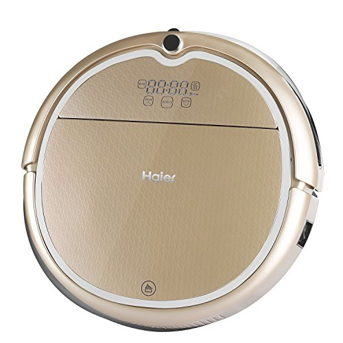 Haier Robot Vacuum Cleaner Floor Cleaner with Self Charging and Wet Mop with Remote Control Gold (Auto Vacume compare prices)