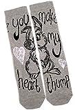 Ladies Disney Thumper Rabbit You Make My Heart Thump Socks One Size