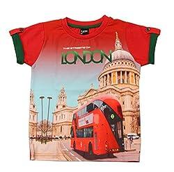 Romano Boys Red Cotton T-Shirt