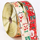 Generic Golden : Free Shipping Christmas Ribbon Red And Golden Color Ribbon 200cm*5cm, Christmas Tree Decoration...