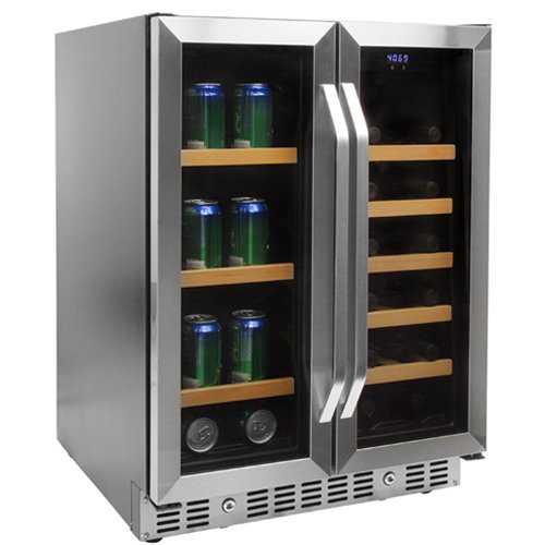 EdgeStar 24 Inch Built-In Wine and Beverage Cooler with French Doors (Beverage Cellar compare prices)