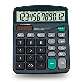 Daixers Electronic Desktop Calculator with 12-digit Large Display, Solar and AA Battery Dual Power