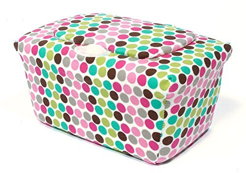 WipesWrap Stylish Baby Wipes Tub Cover (Candy Dots) - 1