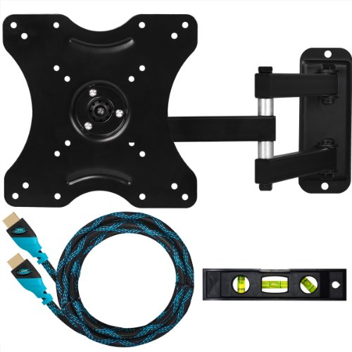 Cheetah Mounts ALAMLB Ballhead LCD LED TV Wall Mount Bracket for 23-37&quot; Flat Screen Displays using VESA 100 or 200 Mount Patterns with Full Motion Swing Out Tilt and Swivel Articulating Arm