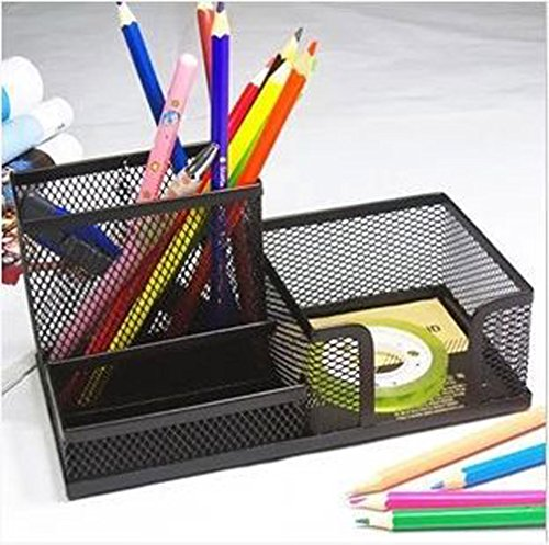 Superbpag(TM) Mesh Desk Organizer Office Supplies Caddy Business Card Holder;Black image