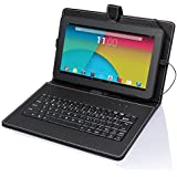 "Tagital® T10 10.1"" Quad Core Android 4.4 KitKat Tablet PC, 1GB RAM, 16GB Nand Flash, Bluetooth, Dual Camera, Play Store Pre-installed, 3D Game Supported, 2014 Newest Model Bundled with Keyboard"