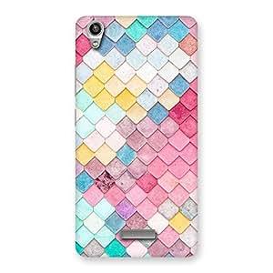 Rock Pattern Multicolor Back Case Cover for Lava-Pixel-V1