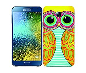 Galaxy Printed 2551 Owls Illustrated Yellow Hard Cover for Samsung S3 NEO