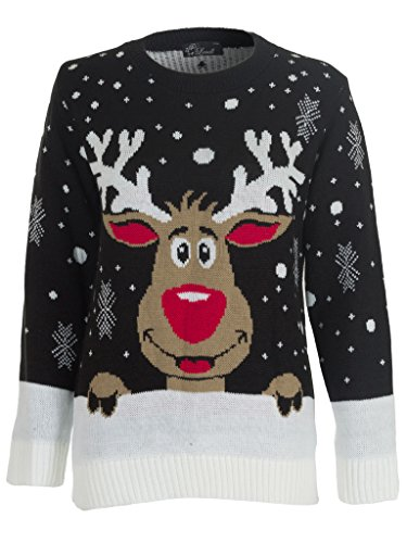 Love-My-Fashions-Kids-Boy-Girl-Snow-Flakes-Rudolf-Womens-XMAS-Knitted-Jumper