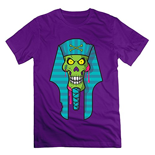 Men's Zombie Skull Short-Sleeve T-shirt Purple L (Gamecock Candy Jar compare prices)