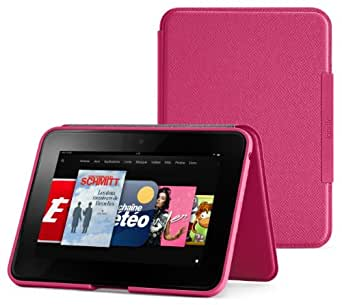 Amazon - Étui en cuir avec support pour Kindle Fire HD (2ème génération - modèle 2012) - Rose fuchsia