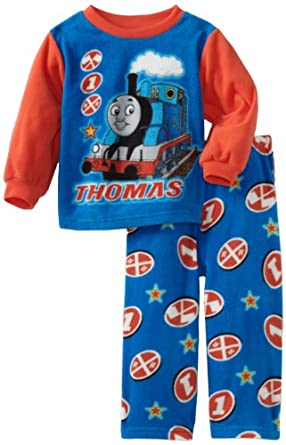 AME Sleepwear Little Boys' Frontal Thomas Pajama Set, Multi, 3T