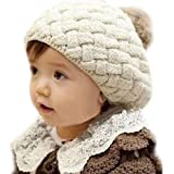 Urparcel Girls Baby Handmade Crochet Knitting Beret Hat Cap Cute Warm Beanie