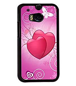 Fuson Love Hearts Back Case Cover for HTC ONE M8 - D3832