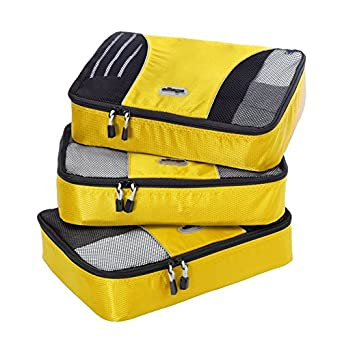 eBags Medium Packing Cubes - 3pc Set (Canary)