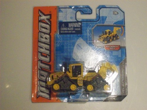 MATCHBOX Real Working Parts MBX All Terrain Yellow Tank Treaded TRactor