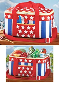 Stars And Stripes Insulated Cooler Bag from Collections Etc