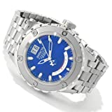 Invicta Mens Reserve Specialty Swiss Made Day Retrograde Stainless Steel Blue Watch 1583