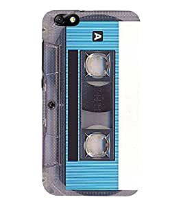 Vintage Blue Cassette 3D Hard Polycarbonate Designer Back Case Cover for Huawei Honor 4X :: Huawei Glory Play 4X
