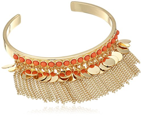 BCBGeneration-Coral-Hued-Fringe-Cuff-Bracelet