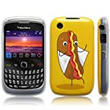 Blackberry Curve 3G 9300 / 8520 'Naughty Nibbles Hot Dog' (Designed by Creative Eleven) TPU Gel Skin / Case / Cover - Part Of The Qubits Accessories Range