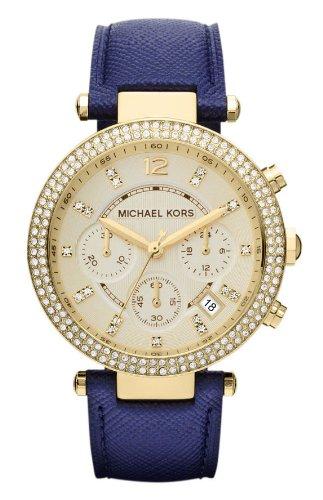 Michael Kors Parker Chronograph Gold-tone Navy