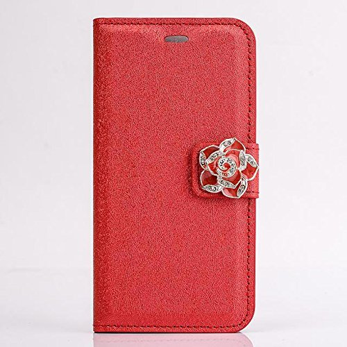 eForprice Fashion Leather Wallet Card Money Flip Luxury Silk Cover Case Flower Buckle Cover Skin Protector Cell Phone for Apple iPhone 6
