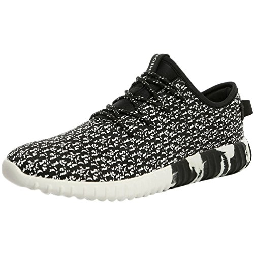 Passionow-Mens-Casual-Lace-Up-Rubber-Sole-Athletic-Running-PU-Fashion-Sneakers
