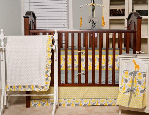 Pam Grace Creations Crib Set With Bumper, Zigzag Safari front-889379
