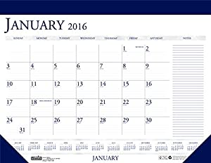 Doolittle 2016 Monthly Desk Pad Calendar, Classic with Notes Section ...