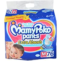 Mamy Poko Pants Baby Diaper - Medium, 76 Pieces Pack