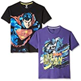 Kidsville Boys' T-Shirt (SP1KB06_Multi_7 - 8 years)(Combo Pack-2)