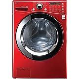 LG 4.5CF Front Load Steamwasher Red - WM3360HRCA